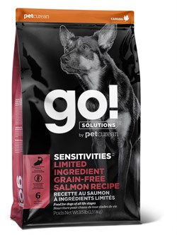 GO! Natural Holistic - Сухой корм беззерновой для щенков и собак для чувствительного пищеварения (с лососем) Sensitivity + Shine Salmon Dog Recipe, Grain Free, Potato Free - фото 10516