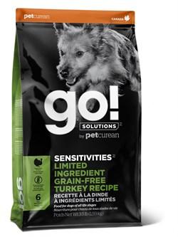 GO! Natural Holistic - Сухой корм беззерновой для щенков и собак для чувствительного пищеварения (с индейкой) Sensitivity + Shine Turkey Dog Recipe, Grain Free, Potato Free - фото 10517