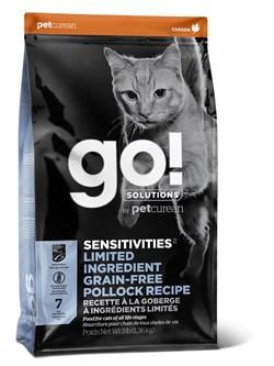 GO! Natural Holistic - Сухой корм беззерновой для котят и кошек с чувствительным пищеварением (с минтаем) Sensitivity + Shine Grain Free Pollock Cat Recipe - фото 10518