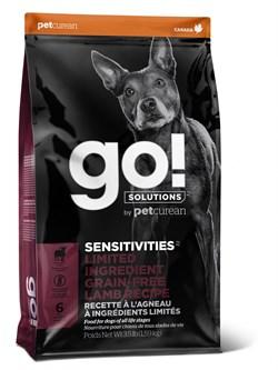 GO! Natural Holistic - Сухой корм беззерновой для щенков и собак для чувствительного пищеварения (с ягненком) Sensitivity + Shine LID Lamb Dog Recipe, Grain Free, Potato Free - фото 10521