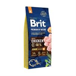 Brit - Сухой корм для молодых собак средних пород (2-12 мес) Premium Junior M - фото 10529