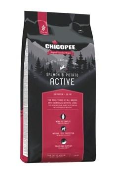 Chicopee - Сухой корм беззерновой для взрослых активных собак всех пород (лосось с картофелем) HNL Active Salmon & Potato - фото 10611