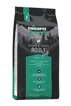 Chicopee - Сухой корм беззерновой для взрослых собак всех пород (страус с картофелем) HNL Soft Adult Ostrich & Potato - фото 10614