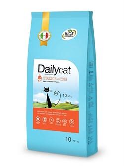 Dailycat - Сухой корм для взрослых кошек для вывода шерсти (с индейкой и рисом) Adult Hairball Turkey and Rice - фото 10697