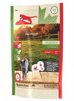 Genesis Pure Canada - Сухой корм для взрослых кошек с чувствительным пищеварением (с говядиной, гусем и курицей) My Green Field - фото 10814