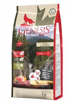 Genesis Pure Canada - Сухой корм для взрослых собак всех пород (с курицей, ягненком и козой) Deep Canyon - фото 10816