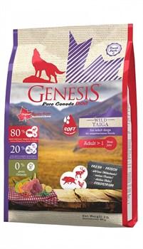 Genesis Pure Canada - Сухой корм для взрослых собак всех пород (с мясом кабана, оленя и курицы) Wild Taiga Soft - фото 10819