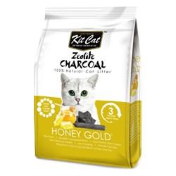 Kit Cat - Наполнитель комкующийся цеолитовый для кошек (медовый с золотыми крупинками) Zeolite Charcoal Honey Gold - фото 10836