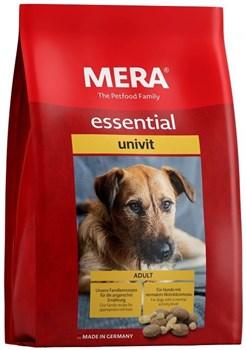 Mera - Сухой полнорационный корм для взрослых собак  с нормальным уровнем активности (с птицей) Essential Univit - фото 10902