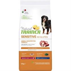 Trainer - Сухой корм для взрослых собак средних и крупных пород (с уткой) Natural Sensitive No Gluten Medium/Maxi Adult Duck and Rice - фото 11083
