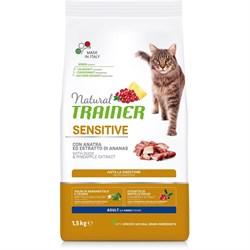Trainer - Сухой корм для чувствительных и склонных к аллергии кошек (с уткой) Natural Sensitive Duck - фото 11117