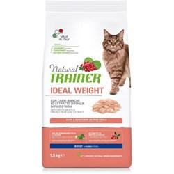 Trainer - Сухой корм для кошек с избыточным весом (с белым мясом) Natural Cat Ideal Weight Adult - фото 11119