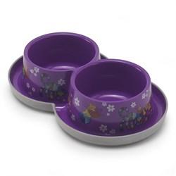 Moderna - Двойная нескользящая миска с защитой от муравьев Trendy - Друзья навсегда, фиолетовая, 2 *350 мл - фото 11309