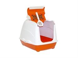Moderna - Туалет-домик Flip с угольным фильтром, 50х39х37см, оранжевый - фото 11399