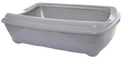 Moderna - Туалет-лоток средний с рамкой artist medium + rim, 42х30х12  серый - фото 11429