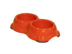 Moderna - Двойная миска нескользящая Smarty, 2*645мл, оранжевая - фото 11446