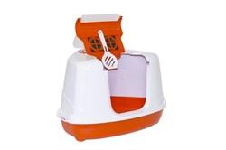 Moderna - Туалет-домик угловой Flip с угольным фильтром, 55х45х38см, оранжевый - фото 11461