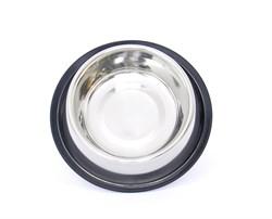 Benelux - Нескользящая стальная миска для собак 25см/34 см - 2500 мл - фото 11554