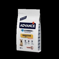 Advance - Сухой корм для собак малых пород с чувствительным пищеварением (лосось и рис) Mini Sensitive - фото 13301