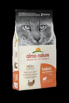 Almo Nature - Сухой корм для взрослых кошек (с индейкой) Holistic Turkey - фото 13368