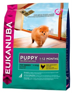 Eukanuba - Сухой корм для щенков миниатюрных пород (курица) Dog Puppy Toy Breed - фото 13996