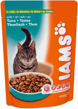 Iams - Паучи для взрослых кошек (с тунцом в желе) Cat Pouch - фото 14116