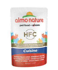 Almo Nature - Паучи для кошек (с Куриным филе и Крабовыми палочками) Classic Cuisine Chicken Fillet and Surimi - фото 14152