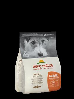 Almo Nature - Сухой корм для взрослых собак малых пород (с лососем) Small & Salmon Holistic - фото 14390