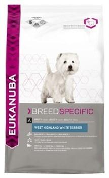 Eukanuba - Сухой корм для собак породы вест-хайленд-уайт-терьер (курица) Breed Specific West Highland White Terrier - фото 15407
