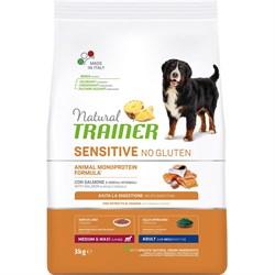 Trainer - Сухой корм для взрослых собак средних и крупных пород (с лососем) Natural Sensitive No Gluten Medium/Maxi Adult Salmon - фото 15596