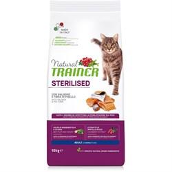 Trainer - Сухой корм для взрослых кастрированных котов и стерилизованных кошек (с лососем) Natural Adult Sterilised Salmon - фото 15642