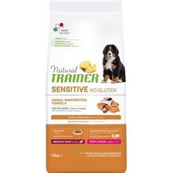 Trainer - Сухой корм для щенков средних и крупных пород (с лососем) Natural Sensitive No Gluten Medium/Maxi Puppy Salmon - фото 15789