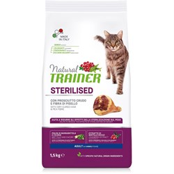 Trainer - Сухой корм для взрослых кастрированных котов и стерилизованных кошек (с сыровяленой ветчиной) Natural Adult Sterilised Dry-Cured Ham - фото 15960