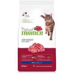 Trainer - Сухой корм для взрослых кошек (с говядиной) Natural Adult Beef - фото 15972