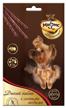 Мнямс - Лакомство для собак (палочки с мясом дикого кабана и лесными ягодами) 3 шт х 11г Деликатес - фото 16328