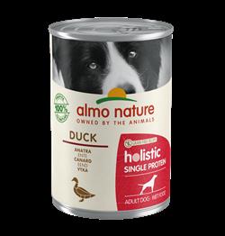 Almo Nature - Консервы для собак с чувствительным пищеварением (утка) Holistic Single Protein - фото 16374