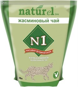 "N1 - Комкующийся наполнитель ""Жасминовый чай"" на 4,5л - фото 16584"