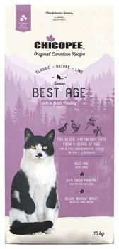 Chicopee - Сухой корм для пожилых кошек (с мясом птицы) CNL Cat SENIOR Best Age Poultry - фото 16706