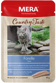 Mera - Паучи для кошек (с форелью) COUNTRY TASTE NASSFUTTER FORELLE - фото 16783