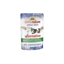 "Almo Nature Alternative - Паучи для кошек ""Тихоокеанский тунец"", 91% мяса Alternative Pacific Tuna - фото 16817"
