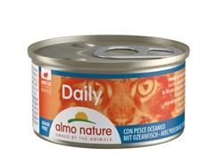 """Almo Nature - Консервы нежный мусс для кошек """"Меню с Океанической рыбой"""" Daily Menu Oceanic Fish mousse - фото 16833"""