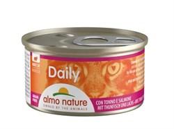 """Almo Nature - Консервы нежный мусс для кошек """"Меню с Тунцом и Лососем"""" Daily Menu Tuna and Salmon mousse - фото 16835"""