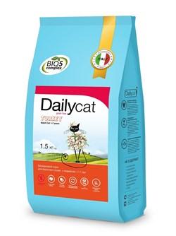 Dailycat - Беззерновой сухой корм для взрослых стерилизованных кошек (с индейкой) Grain Free Adult Steri lite - фото 16849