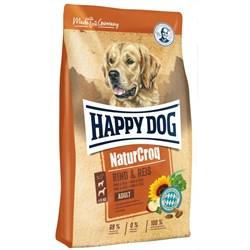 Happy Dog - Сухой корм для взрослых собак (с говядиной и рисом) NaturCroq - фото 16917