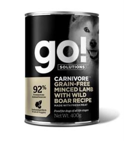 GO! Natural Holistic - Консервы беззерновые для собак (с рубленым мясом ягненка и дикого кабана) Carnivore Grain Free Minced Lamb with Wild Boar DF - фото 17043