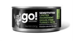 GO! Natural Holistic - Консервы беззерновые для кошек с чувствительным пищеварением (с индейкой) Limited Ingredient Grain-Free Turkey Pate for cats (100 г) - фото 17063