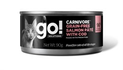 GO! Natural Holistic - Консервы беззерновые для кошек (с лососем и треской) Carnivore Grain Free Salmon Pate with Cod CF - фото 17065