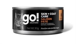 GO! Natural Holistic - Консервы беззерновые для кошек (с лососем) Skin + Coat Care Salmon Pate CF - фото 17074