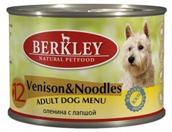 Berkley - Консервы для собак (с олениной и лапшой) - фото 17156