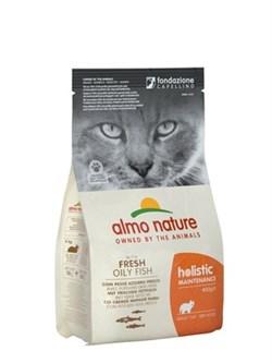 Almo Nature - Сухой корм для взрослых кошек (с белой рыбой и коричневым рисом) Holistic Adult Cat White Fish & Rice - фото 17308